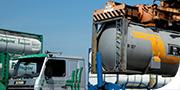 Trazione di tank, silo-container con pompe e compressori