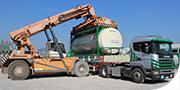 Trazione per container e silo con compressori